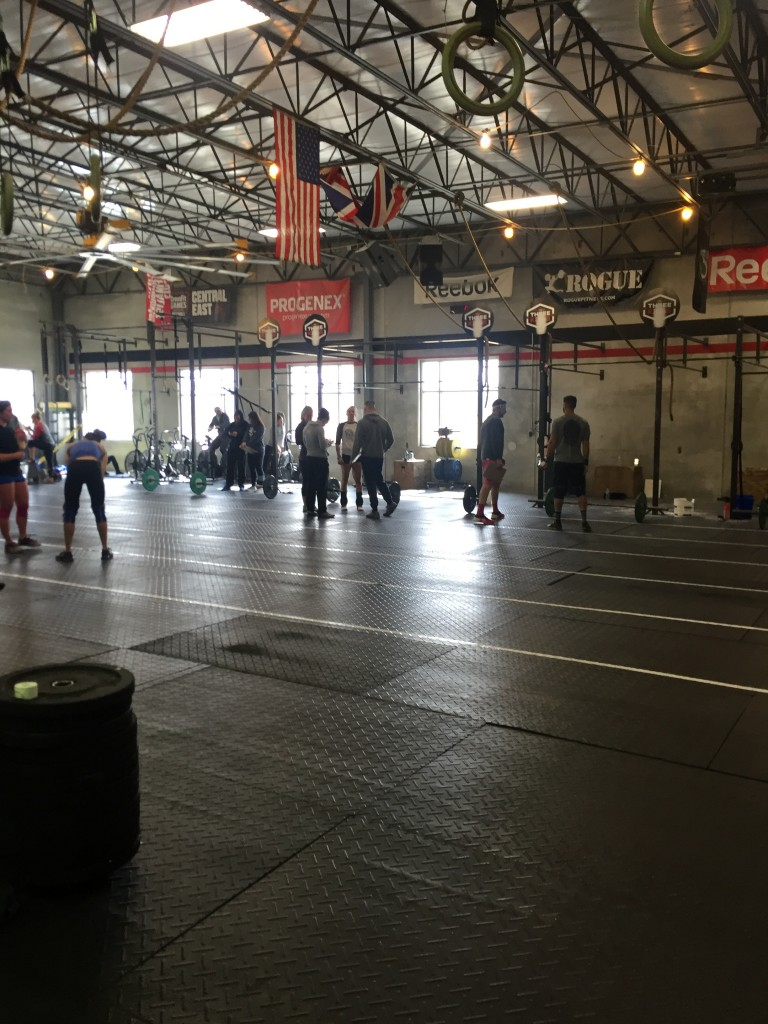 The calm before the storm of 16.1 at Three Kings CrossFit.