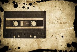 Grungy audio cassette