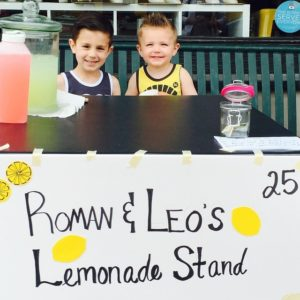 Roman and Leo on Lemonade Day 2015