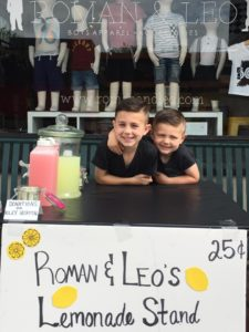 Roman and Leo on Lemonade Day 2016